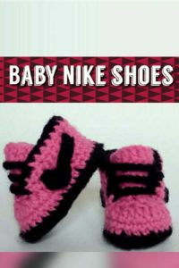 How to crochet Nike baby shoes