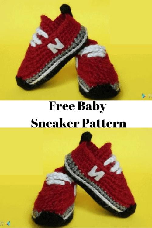 crochet baby sneaker pattern