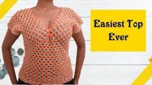 Crochet Sweater Top – So easy