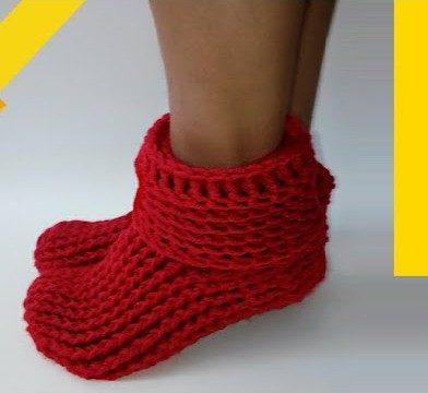 easy free crochet slipper boots