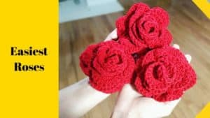 Free Easy Crochet Rose Pattern with video tutorial