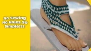 How to crochet over flip flops – Sandal pattern