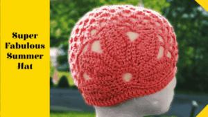 Easy Crochet Hat pattern for the  Summer Heat!!
