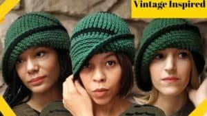 Crochet Vintage Cloche Hat Pattern – 1920s Flapper
