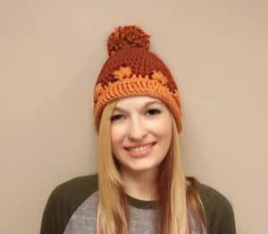 Free Crochet Beanie Pattern That Will Leave You Thinking of Fall!!