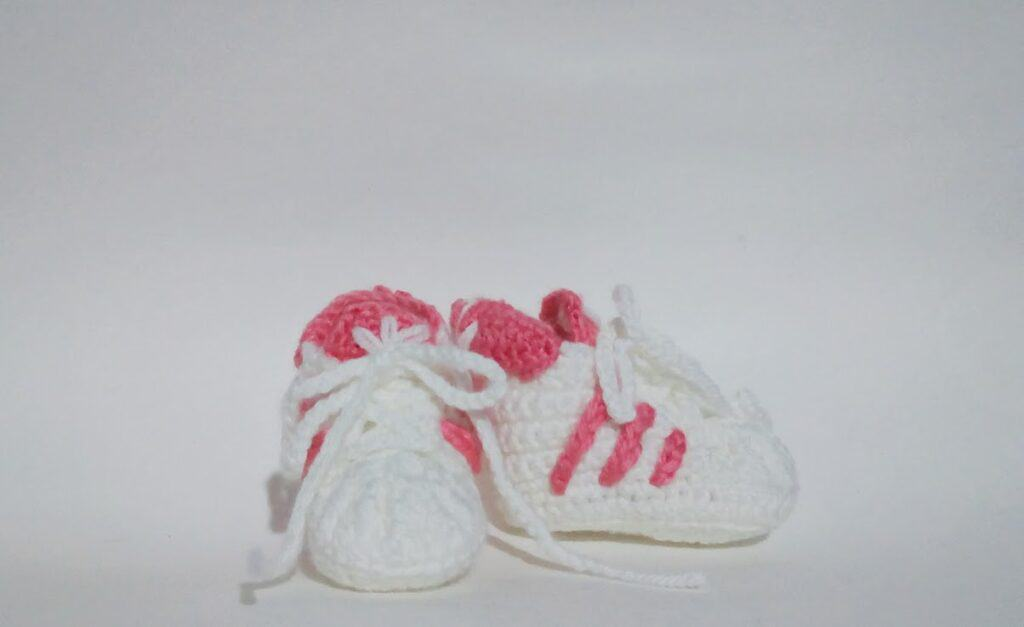 crochet Adidas shoes