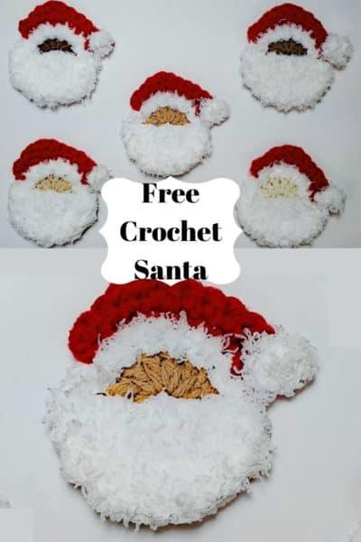 Crochet Santa Face pattern