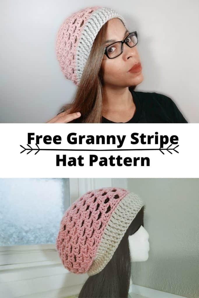 Granny stripe hat pattern