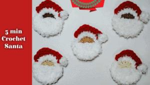 Quick Free Crochet Santa Face Pattern