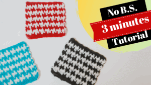 Easy Crochet Houndstooth Stitch | BS Free Patterns