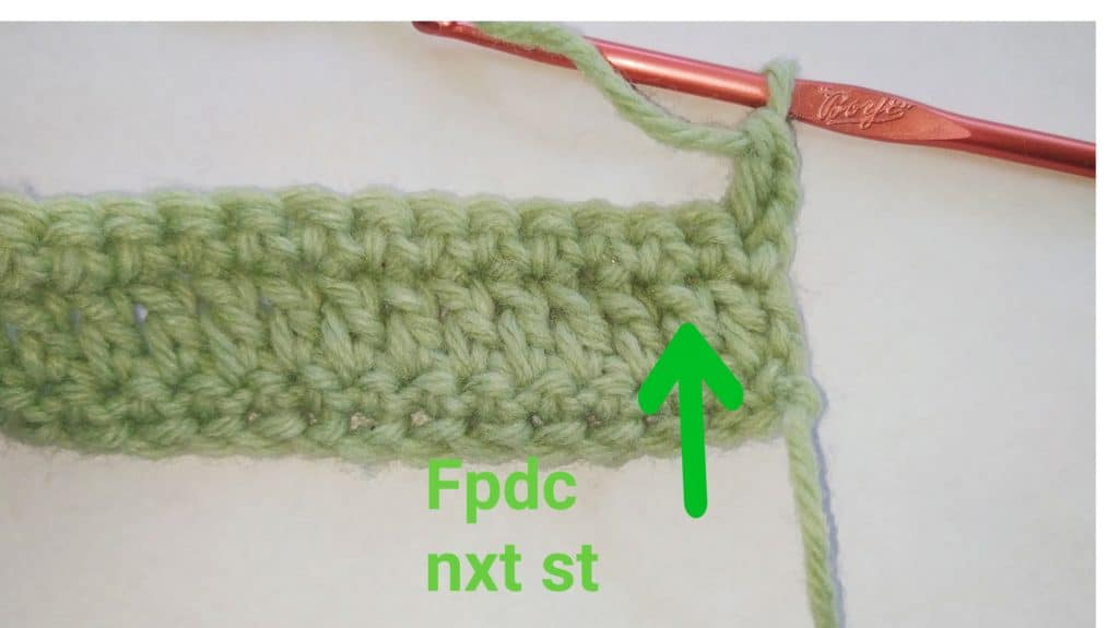 crochet alpine stitch pattern