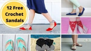 12 Free Crochet Sandal Patterns