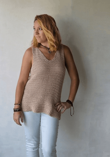 free crochet summer top