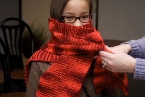 donate crochet scarves